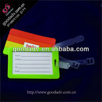 Custom soft pvc travel luggage tag for gifts