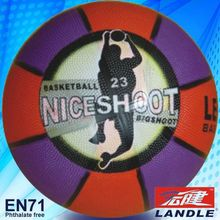 Good quality official size new style rubber phthalate free basketball