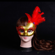 Import China pulchritude feather Flame painted mask