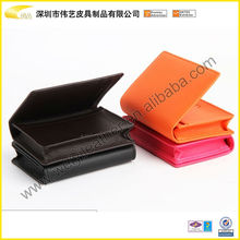 Wholesale Hardcover Charming Custom PU Leather Business Name Card Case With Different Colors Card Holder