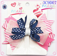 dots and stripe and hair bow net combine(approved by BV)