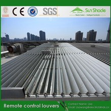 Sun shading Adjustable Aluminium Remote control Louvers