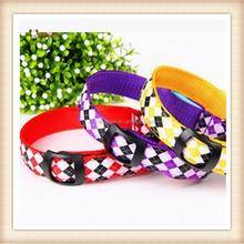 Dog leather collar & superman dog collar & nfc pet id collar tag
