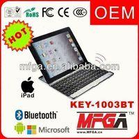 aluminum case bluetooth keyboard for ipad 2