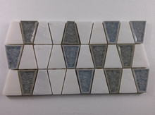 White marble mix blue ceramic mosaic tile kitchen and bathroom use