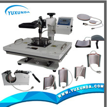 high quality Sublimation 8 in 1 combo heat press machinefor printing T-shirt shoes plate cap
