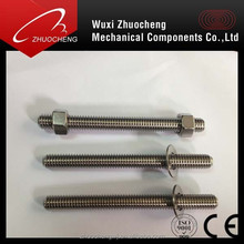 China manufacturer A2 A4 stainless steel asme threaded rod with hex nuts passed ISO certification