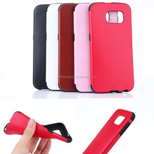 New come mobile phone case leather back cover case for Samsung S6
