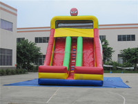 Playground Inflatable Double Lane Spiderman Slide for sale