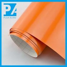 High quality gloss orange car wraps vinyl