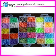 Opp/box packaging DIY bracelets rubber loom band kits/ toy&game rubber loom kits