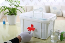 medical plastic storage box with handle lid/container/