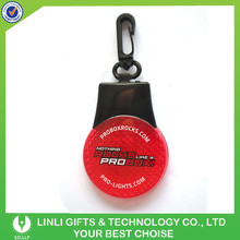 2014 Hot Selling Reflective Printed Logo Key Holder With Safety LED Light For Bussiness Promotion