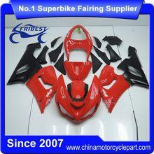 FFGKA003 Motorcycle Fairing Kit For ZX6R ZX 6R 2005 2006 Red And Matt Black 2