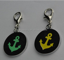 Pet dogs cats and metal tags anchor metal charm stainless steel charm