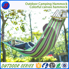 One-person nicaraguan crochet hammock with wood holder