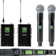 UR124D+/BETA58-X1 Dual Wireless Combo Microphone System, UR4D Dual Diversity Receiver, Two UR2 Handheld & Two UR1 Bodypack