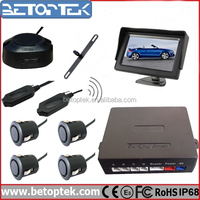 4.3 inch LCD Monitor Wireless Rear View Car Camera Front and Rear Aftermarket Parking Sensors