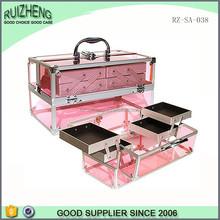 wholesale crystal acrylic display case makeup organizer