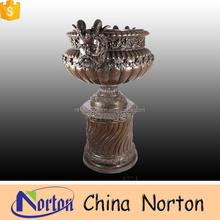 garden human face large metal bronze flower pot NTBF-FL130S