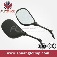 Flyquick Good Quality Motorcycle Parts Black Plastic Side Rearview Mirror For YAMAHA JOG CY-50