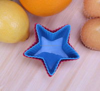 Star shape Silicone Cake Mold Muffin Cups Cake Pan Ice Chocolate Mold,Durable