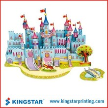 3D childrens paper games puzzle