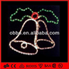 50cm hanging Twin Bell Rope Light Motif hotel decoration