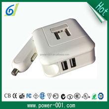 US floding plug 5v2a adapter /adaptor charger cigarette lighter car charger