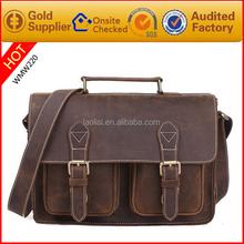 Alibaba italian vintage folder cross body bag mens leather messenger bag