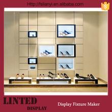 Modern shoe store display racks