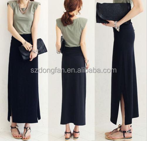 Original Womens Black Formal Skirt Office Ladies Work Wear Plus Size S XXL Slim