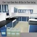 líquido transparente de resina epoxi y endurecedor para la cocina del piso