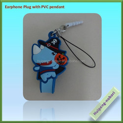 soft PVC cute anti dust plug for phones