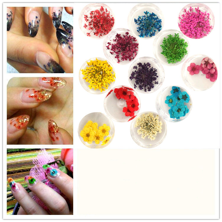 Как использовать в дизайне ногтей сухоцветы