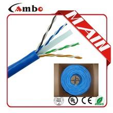 305m pre roll CMP 550Mhz soild bare copper 0.57mm cat 6 cable vs cat5
