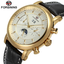 2015 Forsing clear golden Case watches men automatic mechanical luxury