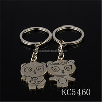 Wholesale metal lovely cartoon character model shapes couple keychains