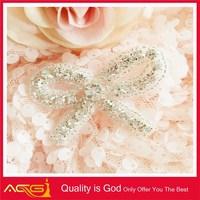 Various good quality new design silver base decoration dress crystal toran