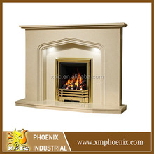 arched fireplace surround modern mantel design