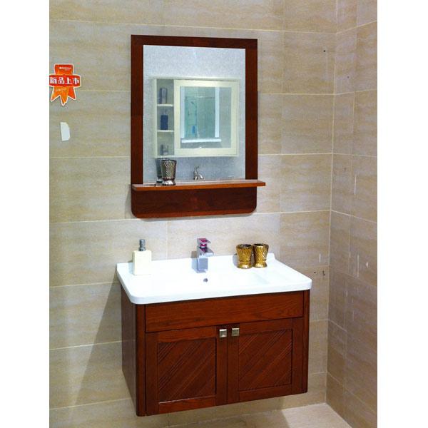 La naturaleza de guangdong rojo moderno de madera de roble - Muebles de bano rojos ...
