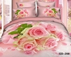 Lacy White Butterflies and Posy of Roses 3d Bed Sheet set