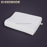 Latex Air Hole Wave Streamline Pillow Cervical Neck Bed Pillow