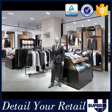 China made mdf and led popular decoration for clothing shop fitting