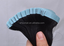 20 inch hot sell highest quality Brazilian human hair Tape Skin Weft