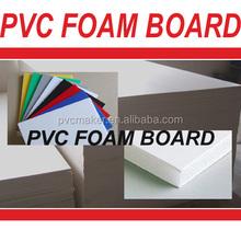 Green 2015 hot sale 1.22x2.44 size 4x8 foot rigid pvc sheets plastic board