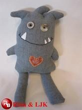 Personalizar el diseño del oem! La costumbre de peluche de felpa de juguete muñeca monster día de san valentín