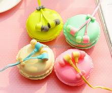 most popular design Macarons sport earphone ear earphone with various color for mobile phone