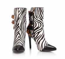 sexy spikes high heels shoes Best price high quality leather boots with shoelace
