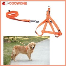 Fashion Pure Color Soft Nylon Dual Dog Harness Leash